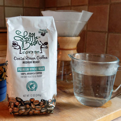 Shuffle Bean coffee from Costa Rica.