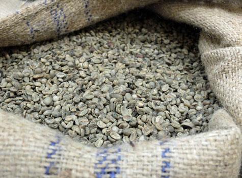 Sumatra coffee beans.
