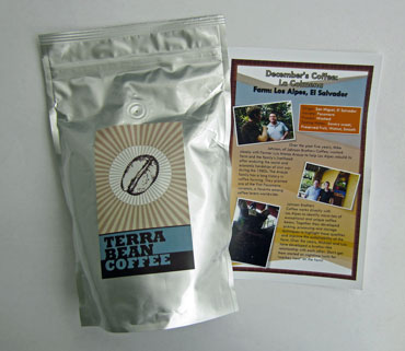 terra bean coffee from El Salvador
