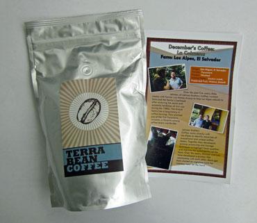 terra bean coffee from El Salvador