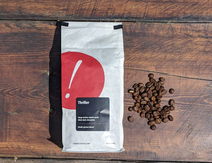 The Thriller blend from Gimme Coffee