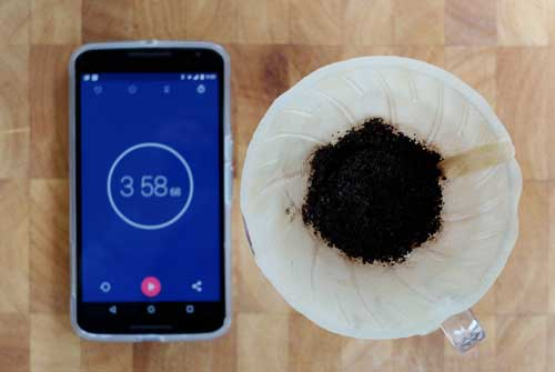 Coffee brew timer