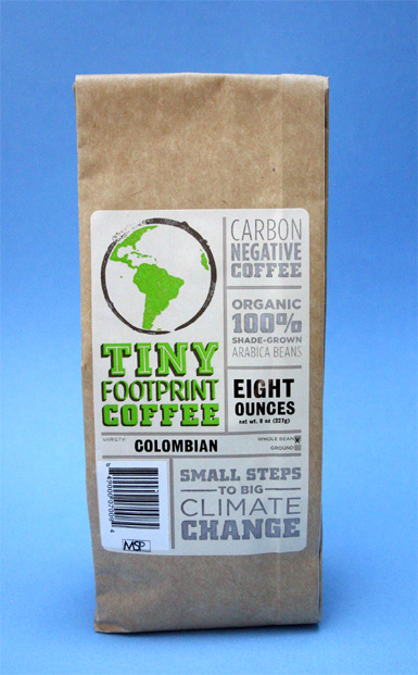 Tiny Footprint Colombian coffee.