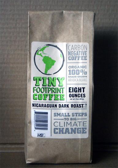 Tiny Footprint Nicaraguan coffee
