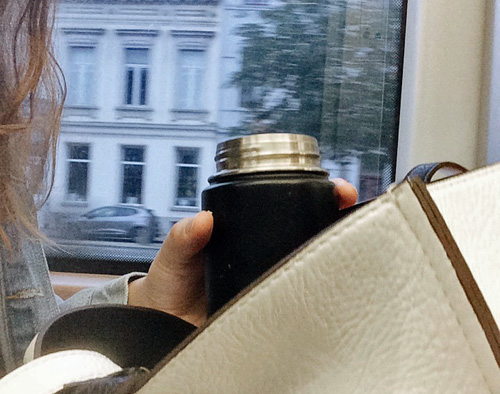 Coffee travel mug.