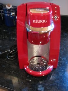Mini red Keurig single-cup