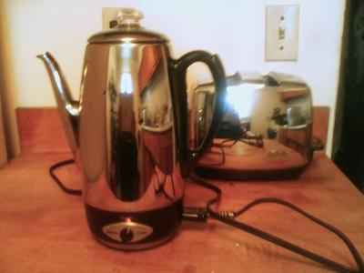 Old coffee percolator