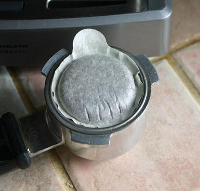 E.S.E espresso coffee pod.