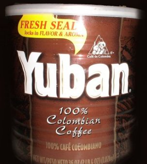 Can of Yuban coffee